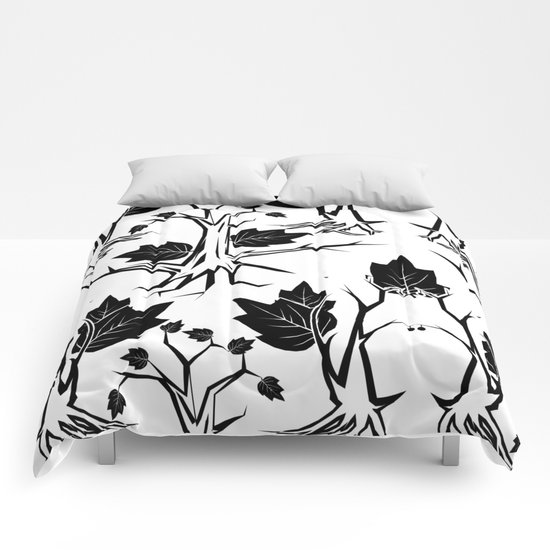 Pattern tree black Comforters