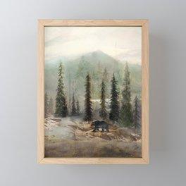 Mountain Black Bear Framed Mini Art Print