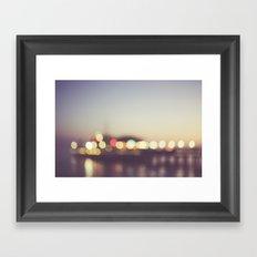 Santa Monica Pier Bokeh Framed Art Print