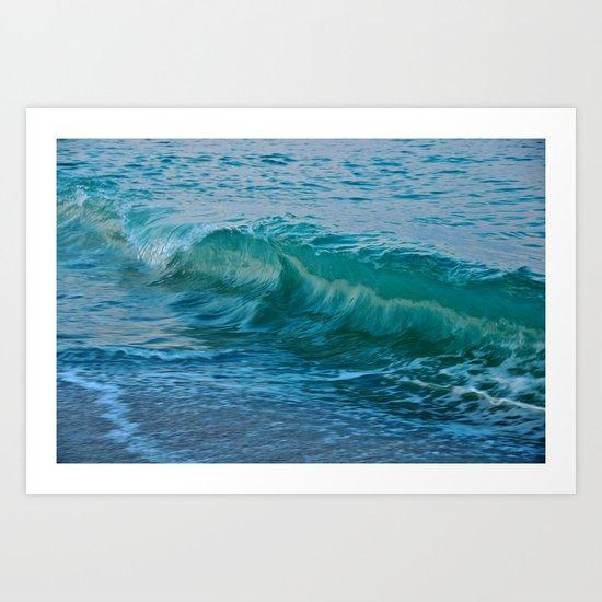 Crashing Wave at Dusk Art Print