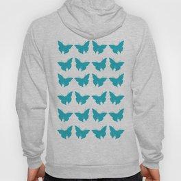 Turquoise Bold Mod Butterflies Hoody