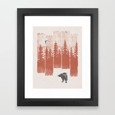 A Bear in the Wild... Framed Art Print