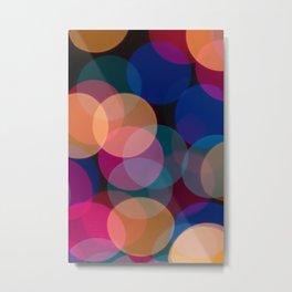 Rainbow Bokeh Metal Print