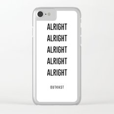 alright alright alright Clear iPhone Case