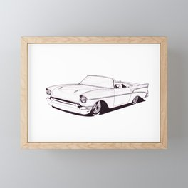 1957 Custom Belair Framed Mini Art Print