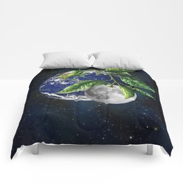 Full moon and Earth Comforters