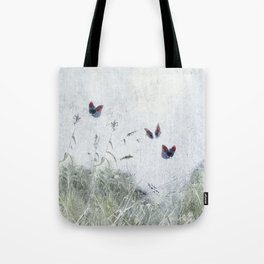 A Spell for Creation - butterflies amongst grass Tote Bag