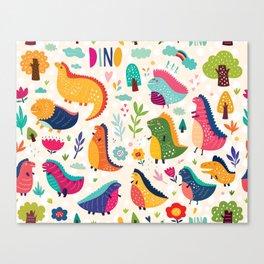 Funny dinosaurs Canvas Print