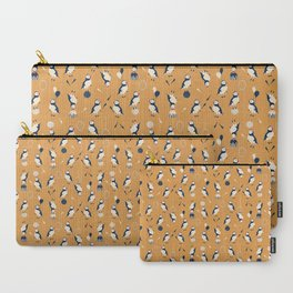 Circus of Puffins - Gold Carry-All Pouch