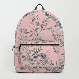 Chinoiserie Flowers Millennial Pink Backpack