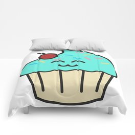 Cupcake baking bakers gift idea funny baker cook Comforters
