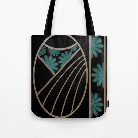 ART DECO FLOWERS (abstract) Tote Bag