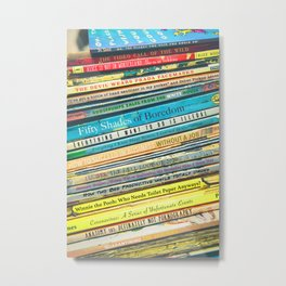 Quarantine Book Titles Metal Print