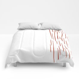 Wild tiger elements - on white Comforters