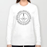 bill cipher Long Sleeve T-shirts featuring Bill Cipher - Light by Flora