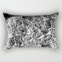 Twisted (Black & White) by TygerB.com Rectangular Pillow