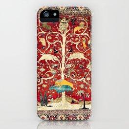 Silk Heriz Azerbaijan Northwest Persian Rug Print iPhone Case