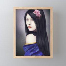 Geisha Framed Mini Art Print