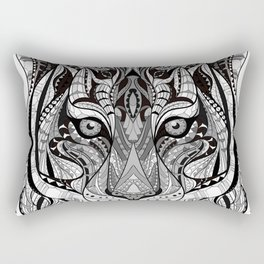 Ethnic Tiger Tribal Doodle 01 Rectangular Pillow