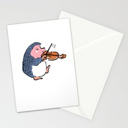 Hedgehog Violin Violin Player Gift Stationery Cards