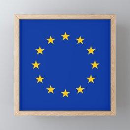 Flag of Europe 3 Framed Mini Art Print