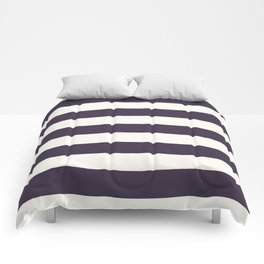 summer beach coastal nautical french fashion navy blue stripes Comforters