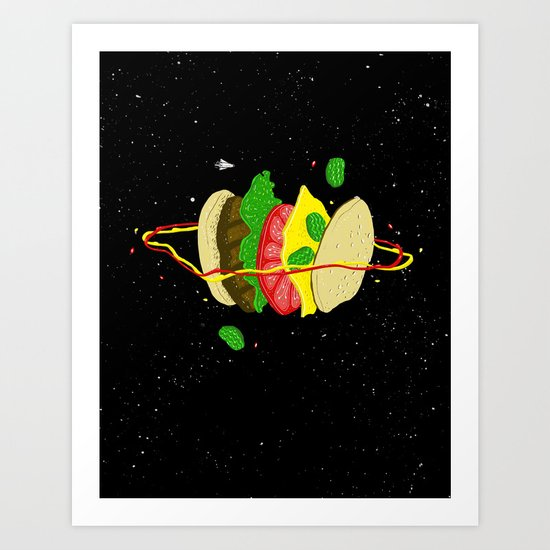 Planetary Discovery 8932: Cheeseburger Art Print