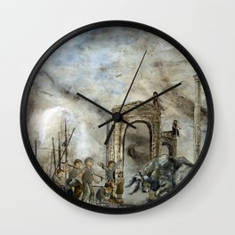 Boy And A Bull  Wall Clock