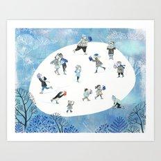 Ice Skating Fun Art Print