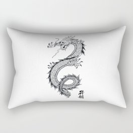 Chinese traditional dragon and signs Rectangular Pillow