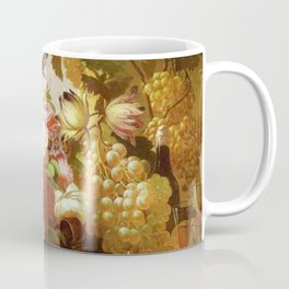 Still Life With Roses And Wine Glasses 1855 By Thomas Hill | Reproduction Coffee Mug