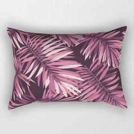 Rose palm leaves Rectangular Pillow
