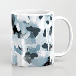 Minerva - abstract art home decor dorm college office minimal painting blue black white Coffee Mug