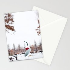 snow spoon & cherry Stationery Cards