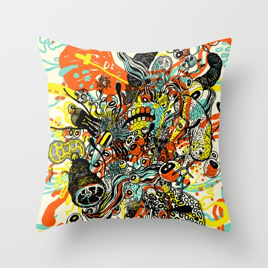 Triefloris Throw Pillow