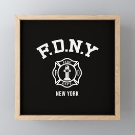 Firefighter Framed Mini Art Print