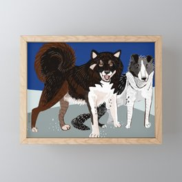 Karafuto Ken - Sakhalin husky Framed Mini Art Print