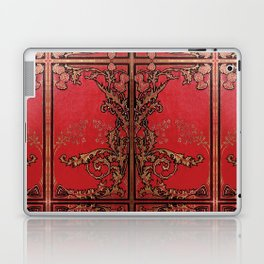 Red and Gold Thistles Laptop & iPad Skin