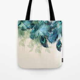 Beautiful Peacock Feathers Tote Bag