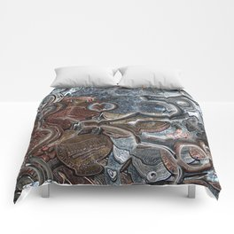 Abstract Coins Comforters