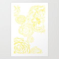 Bloom - Yellow Art Print