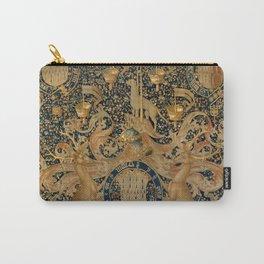 Vintage Golden Deer and Royal Crest Design (1501) Carry-All Pouch
