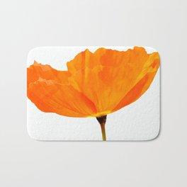 One And Only - Orange Poppy White Background #decor #society6#buyart Bath Mat