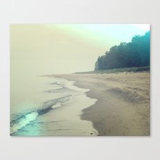 It was a foggy morning Canvas Print
