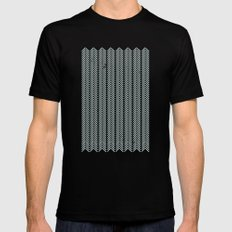 stamb chevron Black SMALL Mens Fitted Tee