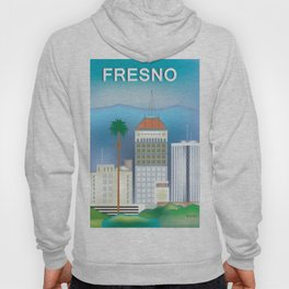 Fresno, California - Skyline Illustration by Loose Petals Hoody