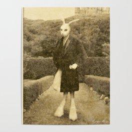Dark Victorian Portrait: The White Rabbit Poster