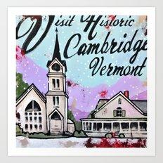 Cambridge Vt Art Print