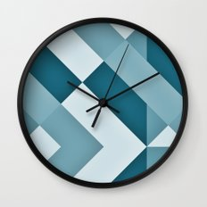 Turkish Blue Gradient Wall Clock