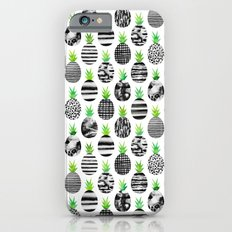 Black & White Pineapples iPhone 6s Slim Case